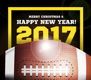 Happy New Year on the background of a ball for football. Vector illustration Royalty Free Stock Images