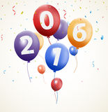 Happy new year background with balloon. Illustration of Happy new year background with balloon Royalty Free Illustration