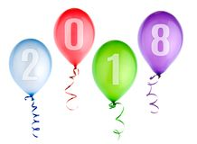 2018 Happy New Year background with balloons Royalty Free Stock Image