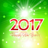 2017 Happy New Year background. Beautiful Christmas background with a bright flash of light and the words Happy New Year 2017 Royalty Free Stock Image