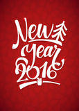 Happy New Year Background. Beautiful elegant text design of happy new year Stock Photography