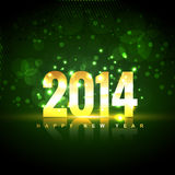 Happy new year background. Beautiful shiny 2014 golden happy new year design background stock illustration