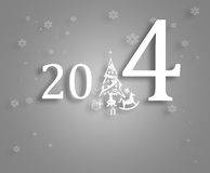 Happy New Year 2014 background. Black and grey background with year 2014 Royalty Free Stock Images