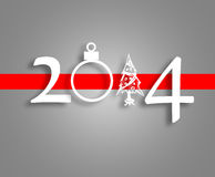 Happy New Year 2014 background. Black and grey background with year 2014 and a red stripe Stock Photo