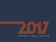 Happy new year 2017  background in blue and orange Royalty Free Stock Photography