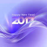 Happy New Year background with blue wave. 2017 Happy New Year abstract background with blue wave. Vector illustration Vector Illustration