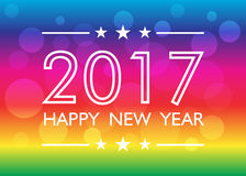 Happy new year 2017 background. With bokeh. Vector illustration Royalty Free Stock Photo