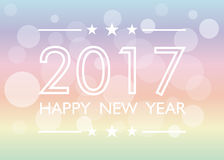 Happy new year 2017 background. With bokeh. Vector illustration Royalty Free Stock Images