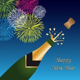 Happy new year background stock illustration