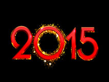 2015 Happy New Year background. 2015 Happy New Year bright red text on a black background Vector Illustration