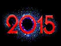 2015 Happy New Year background Stock Images