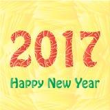 Happy New Year 2017 background. Calendar design typography  illustration Royalty Free Stock Photo