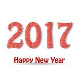 Happy New Year 2017 background. Calendar design typography  illustration Stock Image
