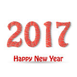 Happy New Year 2017 background. Calendar design typography vector illustration Stock Photography