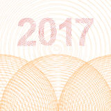 Happy New Year 2017 background. Calendar design typography vector illustration Royalty Free Stock Photos