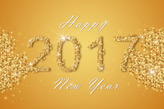 Happy New Year 2017 background. Royalty Free Stock Photos