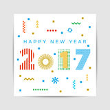Happy New Year 2017 background. Calendar template.  Greeting card. Vector illustration Royalty Free Stock Photos