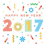 Happy New Year 2017 background. Calendar template.  Greeting card. Vector illustration Royalty Free Stock Images