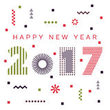 Happy New Year 2017 background. Calendar template.  Greeting card. Vector illustration Royalty Free Stock Image