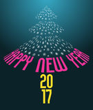 Happy new year 2017 background Royalty Free Stock Images