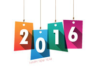 Happy new year 2016 background card .Vector/illustration. Royalty Free Stock Photography