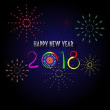 Happy new year 2018 with background. Happy new year background and celebrate ;design for new year 2018 Stock Images