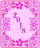 Happy new year 2018 with background. Happy new year background and celebrate ;design for new year 2018 royalty free illustration