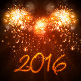 Happy New Year 2016 background Stock Images