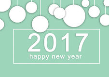 Happy New Year 2017 background. Celebration background. Greeting card Royalty Free Stock Image