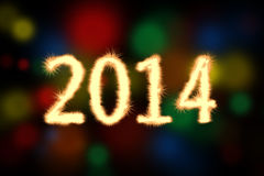 Happy New Year 2014 Background. Celebration background for your posters Royalty Free Stock Photography