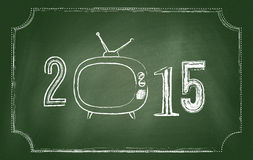 2015 Happy New Year. Background. Chalkboard design stock illustration