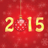 Happy new year background. With Christmas bauble Royalty Free Stock Photography