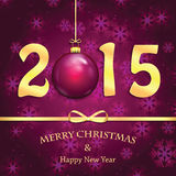 Happy new year background. With Christmas bauble Royalty Free Stock Photos