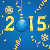 Happy new year background. With Christmas bauble Stock Illustration