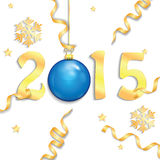 Happy new year background. With Christmas bauble Royalty Free Stock Images