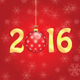 Happy new year background with Christmas bauble Stock Image