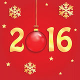 Happy new year background with Christmas bauble Stock Photo
