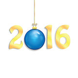 Happy new year background with Christmas bauble. New Year 2016 Stock Illustration
