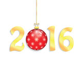 Happy new year background with Christmas bauble Royalty Free Stock Photos