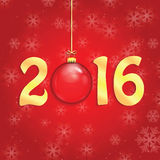 Happy new year background with Christmas bauble Stock Images