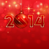 Happy new year background with Christmas bauble. This is file of EPS10 format Stock Photos