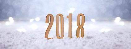 Happy new year 2018 background with christmas decoration Stock Images
