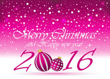 2016 Happy New Year Background. 2016 Happy New Year and Happy Christmas Background for invitations, festive poster Vector Illustration