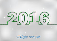 2016 Happy New Year Background. 2016 Happy New Year and Happy Christmas Background for invitations, festive poster Stock Illustration