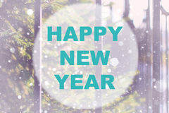 Happy new year background circle Royalty Free Stock Photos