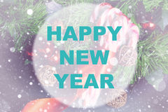 Happy new year background circle Stock Images