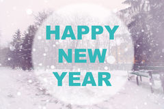Happy new year background circle Stock Photos
