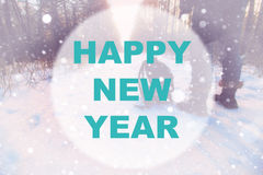 Happy new year background circle Stock Photography