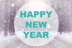 Happy new year background circle Royalty Free Stock Photography