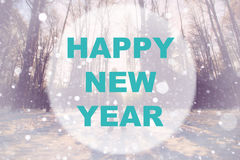 Happy new year background circle Royalty Free Stock Images